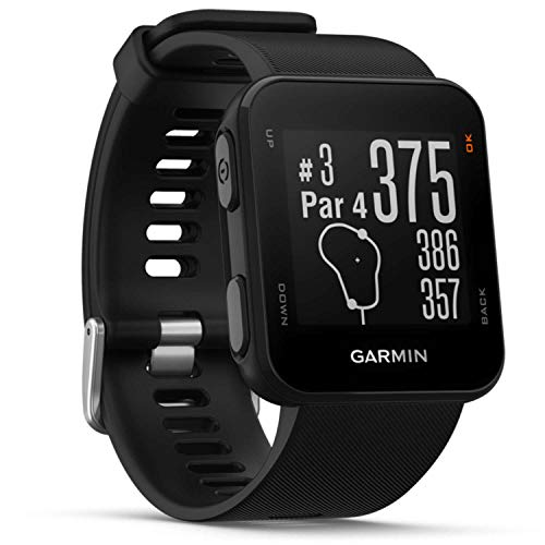 Garmin Approach S10 Black GPS Golfuhr, Schwarz, M