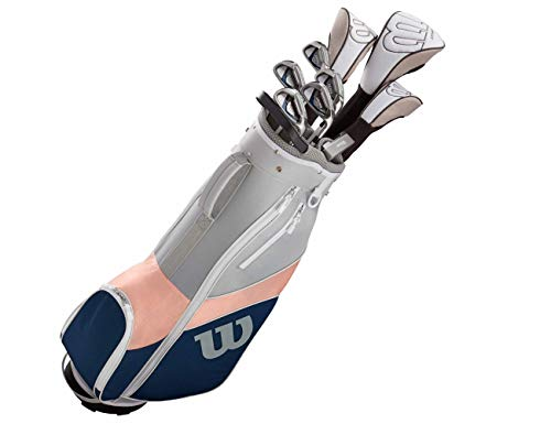 WILSON Ultra Damen Golf Komplettset & Carttasche 2019 Eisen Hölzer Driver Bag Graphit Schaft...