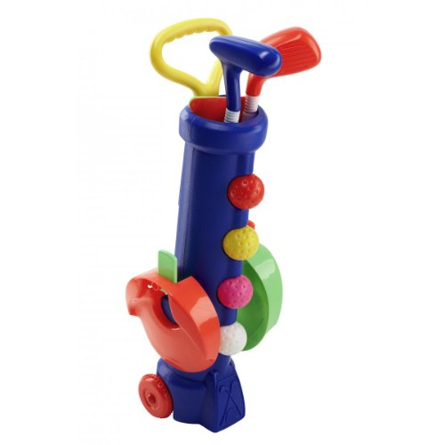 Silverline Mini-Golf-Set für Kinder ab 3 Jahren - Trolley-Bag + Schläger + Bälle + Löcher mit...