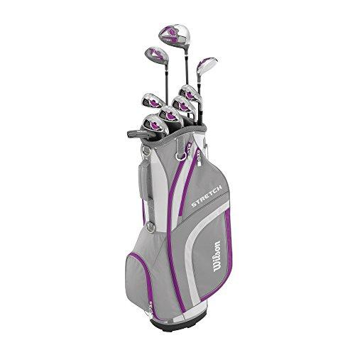 Wilson Anfänger-Komplettsatz, 9 Golfschläger mit Cartbag, Damen, Linkshand, Stretch XL,...