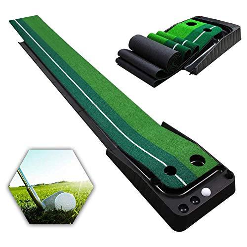 Qdreclod Golfmatte Puttingmatte Golf Indoor Büro Outdoor für zu Hause Büro Golf Übungsmatte Golf...